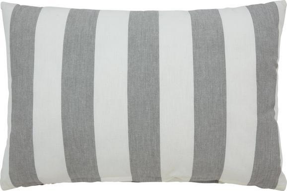 Okrasna Blazina Blockstreif - siva/bela, tekstil (40/60cm) - Mömax modern living