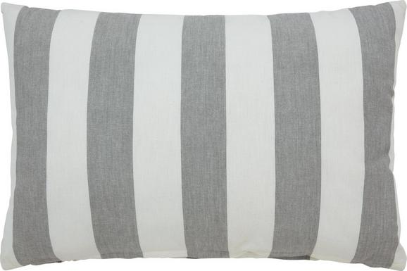 Zierkissen Blockstreif 40x60cm - Weiß/Grau, Textil (40/60cm) - MÖMAX modern living