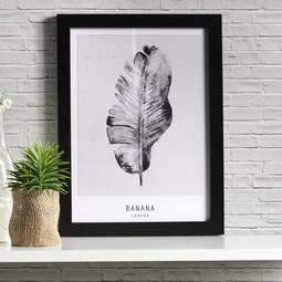 Bild Banana - Schwarz/Grau, MODERN, Kunststoff (30/40/1,7cm) - MÖMAX modern living