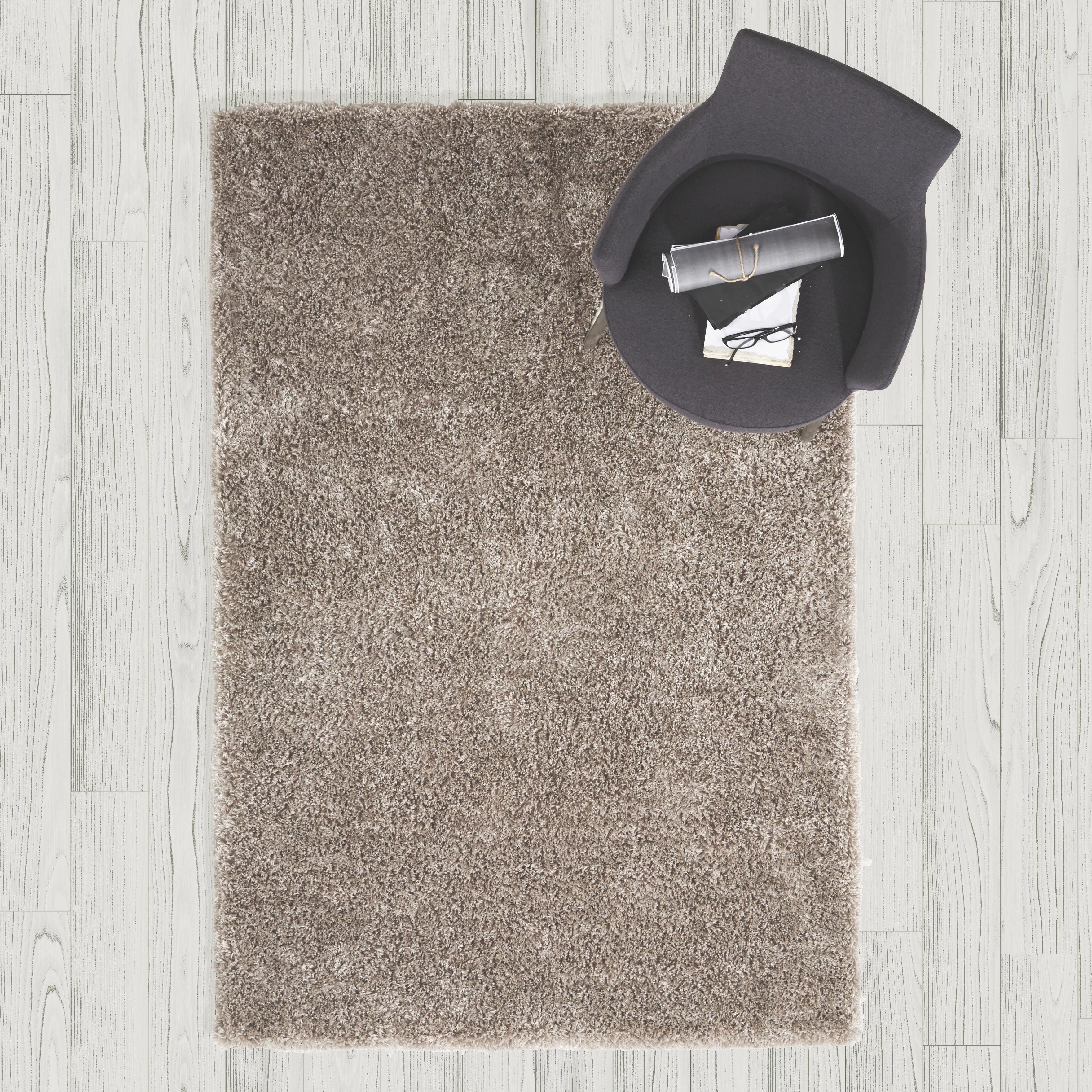 Hochflorteppich Shaggy 120x170cm - Grau, MODERN, Textil (120/170cm) - MÖMAX modern living
