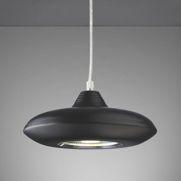 Pendelleuchte Leah mit Led - Schwarz, MODERN, Glas/Kunststoff (21/21/180cm) - Mömax modern living