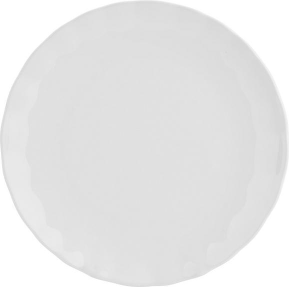 Plitvi Krožnik Pauline - bela, Romantika, keramika (26cm) - Zandiara