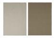 Geschirrtuch-Set Ameline in Taupe/hellgrün - Taupe/Hellgrün, ROMANTIK / LANDHAUS, Textil (50/70cm) - Zandiara