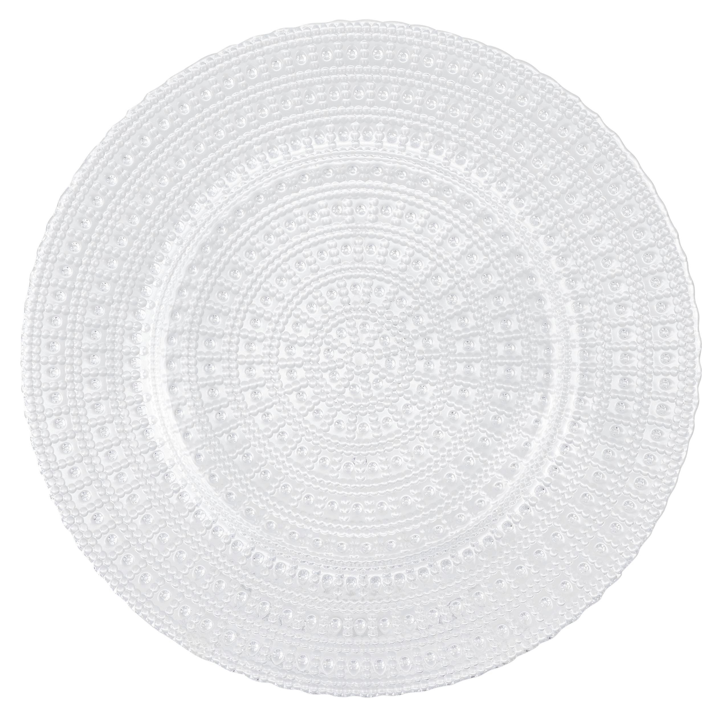 Desszertes Tányér Carolin - tiszta, romantikus/Landhaus, üveg (21,5/2cm) - ZANDIARA
