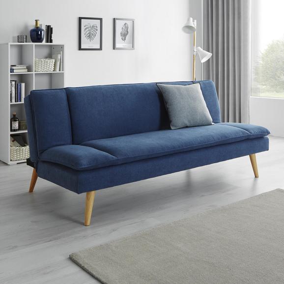 Sofa Lorenzo mit Schlaffunktion - Blau, MODERN, Holz/Textil (180/83/93cm) - Modern Living