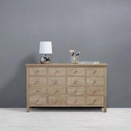 SIDEBOARD aus Kiefer 'Savannah' - Kieferfarben, MODERN, Holz/Metall (140,5/82,5/40cm) - Bessagi Home