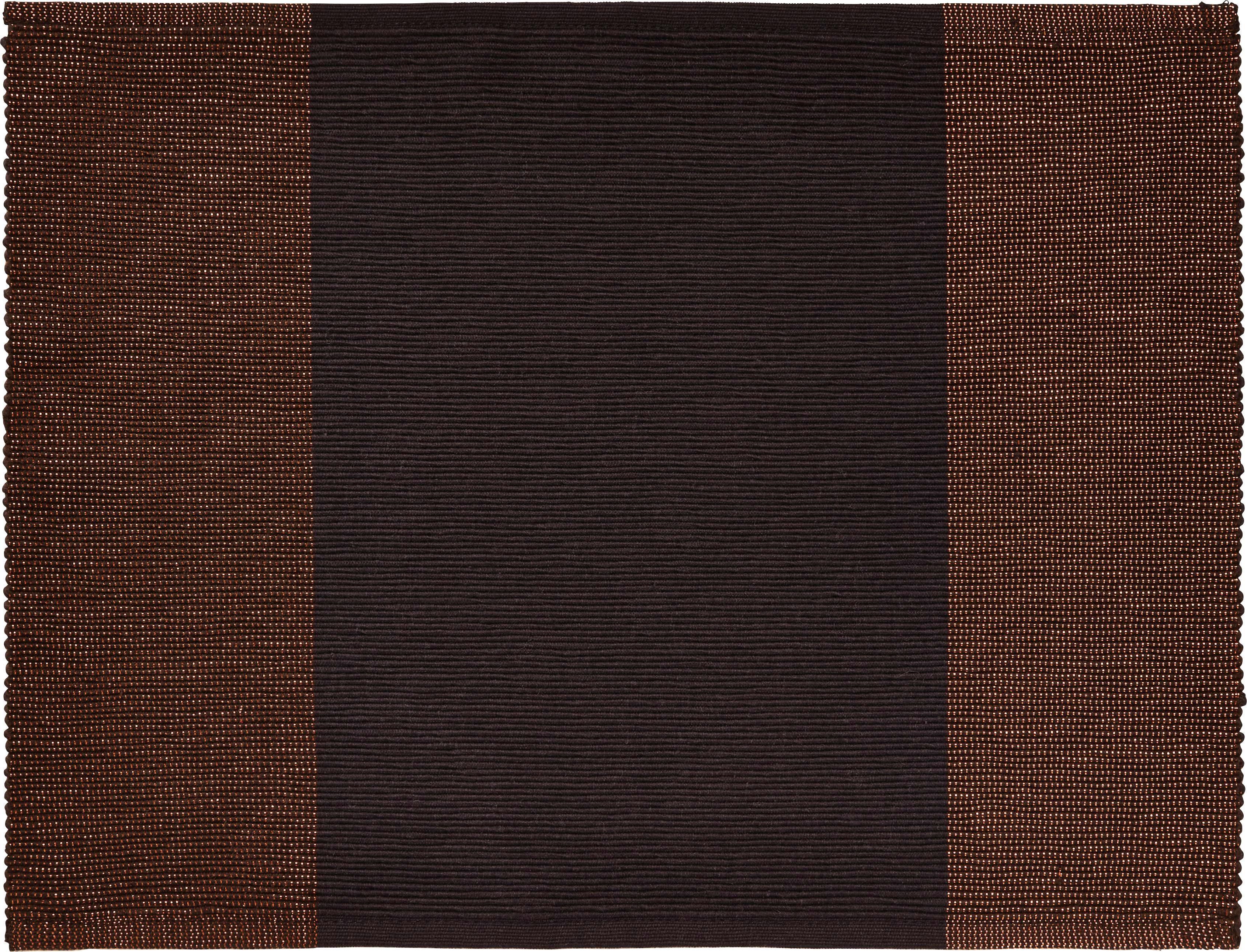 Tischset Brando in Schwarz/braun - Schwarz/Kupferfarben, LIFESTYLE, Textil (33/45cm) - MÖMAX modern living