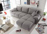 Sedežna Garnitura Anton - svetlo siva, Moderno, tekstil/leseni material (289/85/189cm) - Mömax modern living
