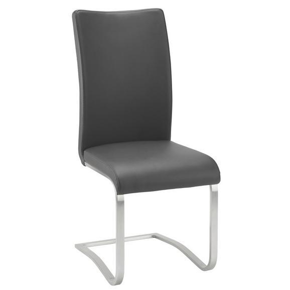 Schwingstuhl in Schwarz - Edelstahlfarben/Schwarz, MODERN, Textil/Metall (52/103/43cm) - Premium Living
