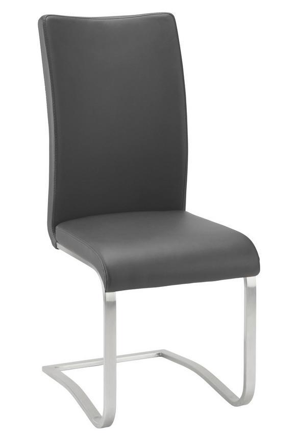 Schwingstuhl Schwarz - Edelstahlfarben/Schwarz, MODERN, Textil/Metall (52/103/43cm) - Premium Living