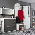 Garderobenschrank Anthrazit/Weiß Hochglanz - Anthrazit/Weiß, LIFESTYLE, Holzwerkstoff (84,2/49,5/42cm) - Mömax modern living