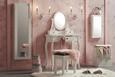 Schminktisch Weiß - Bronzefarben/Weiß, MODERN, Glas/Holz (70/38/127/28/38/44cm) - Modern Living