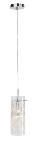 Hängeleuchte Filo - Chromfarben, MODERN, Glas/Metall (10/160cm) - Premium Living