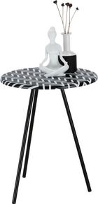 Kisasztal Ricko   -sb- - Fehér/Fekete, modern, Faalapú anyag (40/50/40cm)