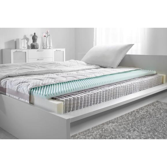 Taschenfederkernmatratze ca. 160x200cm - Weiß, Textil (160/200cm)