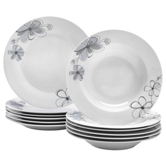 Jedilni Servis Kerstin -based- -top- - modra/siva, Konvencionalno, keramika - Based