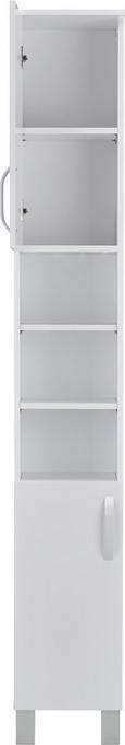 Hochschrank Weiß - Alufarben/Weiß, MODERN, Holzwerkstoff/Kunststoff (31/204/31cm) - Mömax modern living