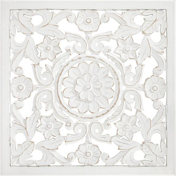 Stenska Dekoracija Salomon - bela, Moderno, les (60/60/2cm)