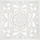 Wanddeko Salomon Weiß - Weiß, MODERN, Holz (60/60/2cm)