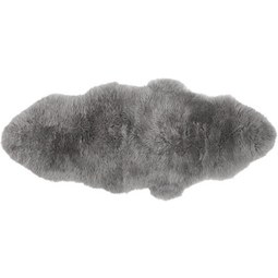 Schaffell in Grau ca.150x65cm 'Mona' - Grau, MODERN (150/65cm) - Bessagi Home