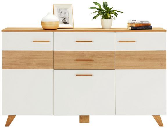 Kommode Eiche/Weiß - Eichefarben/Weiß, LIFESTYLE, Holz/Holzwerkstoff (160/95/40cm) - Mömax modern living