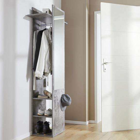 Garderobenschrank in Graphit 'Aldona' - Graphitfarben, MODERN, Holz (70/188/35cm) - Bessagi Home