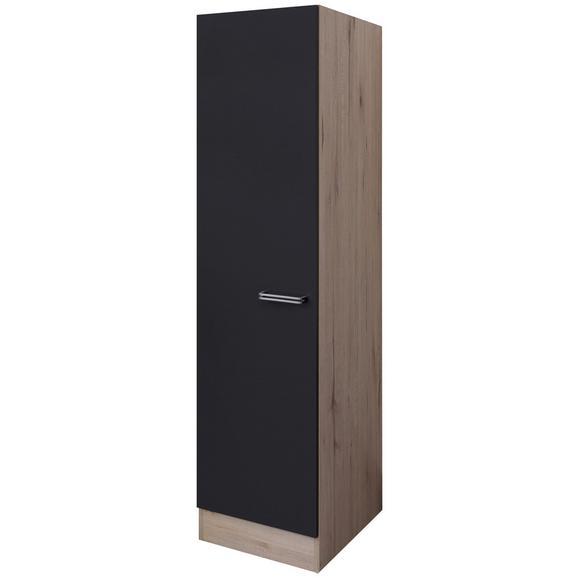Dulap De Vase Milano - culoare lemn stejar/antracit, Modern, compozit lemnos (50/200/57cm)
