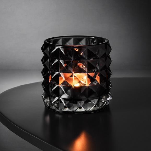 Teelichthalter Jolina Ø ca. 9,8 cm - Grau, MODERN, Glas (9,8/9,8cm) - Mömax modern living