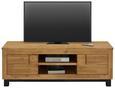 Nizka Omarica Aruba - črna/akacija, Konvencionalno, leseni material/les (140/45/50cm) - Zandiara