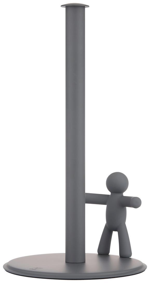 Küchenrollenhalter Ute Grau - Grau, MODERN, Kunststoff/Metall (18,2/33,7cm) - Premium Living