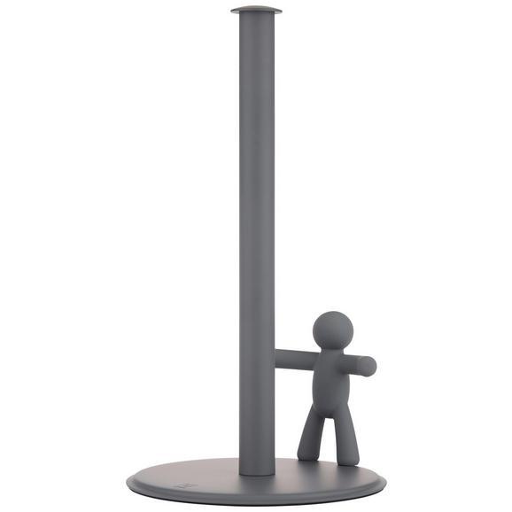 Stojalo Za Kuhinjske Brisače Ute - siva, Moderno, kovina/umetna masa (18,2/33,7cm) - Premium Living