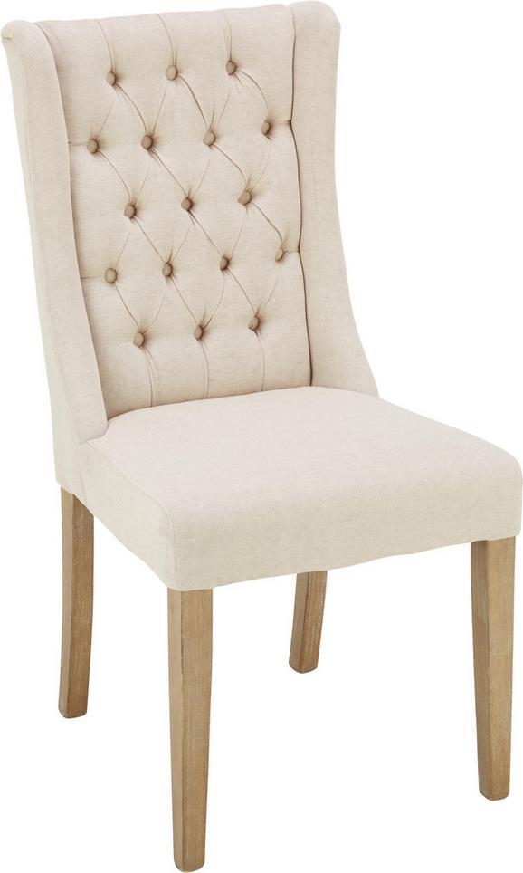 Stuhl Creme/Eschefarben - Eschefarben/Creme, ROMANTIK / LANDHAUS, Holz/Textil (51/104/63cm) - Zandiara