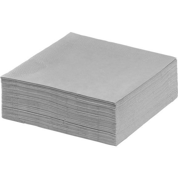 Serviette Kathleen Grau - Grau, Papier (33/33cm) - Mömax modern living