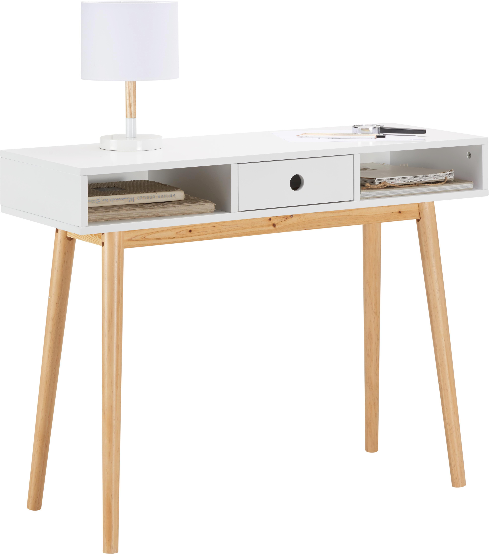 Konsolentisch Emilie 100x35cm - Braun/Weiß, MODERN, Holz (100/76/35cm) - MÖMAX modern living