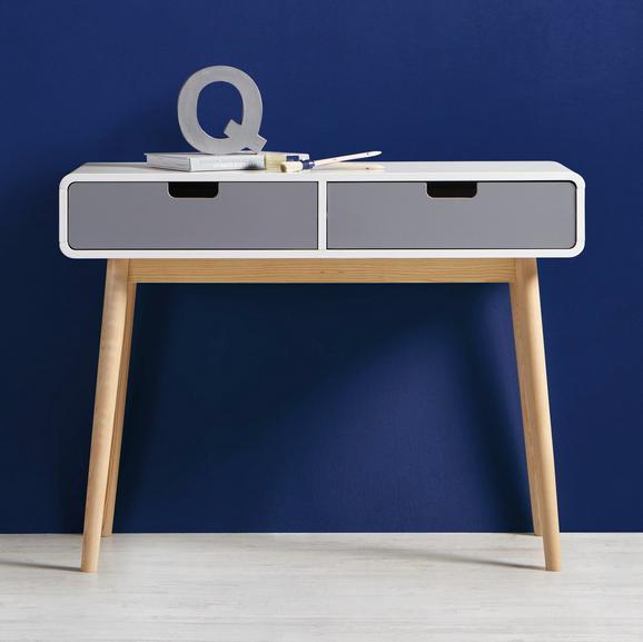Konsole Daniela ca.100x38cm - Weiß/Grau, Holz (100/76/38cm) - Modern Living