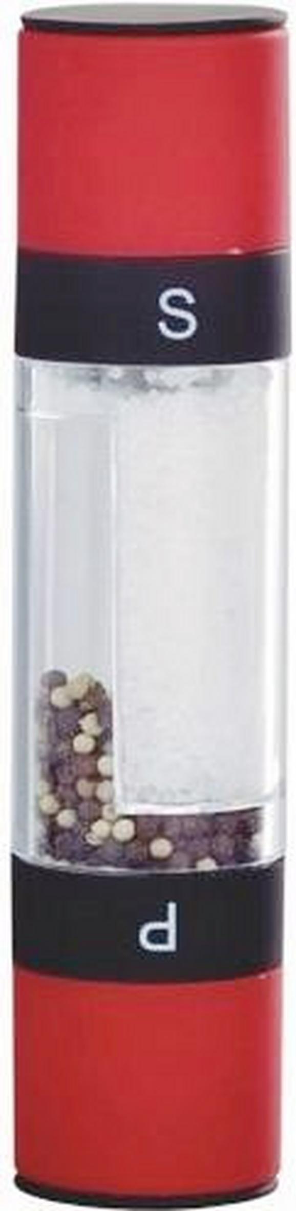 Só És Borsőrlő Pippa - Piros/Áttetsző, Műanyag (5,2/22cm) - Mömax modern living
