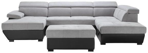Wohnlandschaft Grau mit Bettfunktion - Schwarz/Grau, MODERN, Kunststoff/Textil (170/332/224cm) - MÖMAX modern living