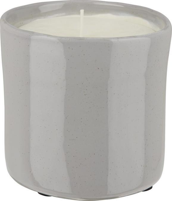 Sveča V Lončku Aurora - roza/siva, keramika (12/12cm) - Premium Living