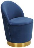 Sessel Blau - Blau/Goldfarben, MODERN, Textil/Metall (56/75/54cm) - Modern Living