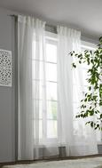 Kombinirana Zavesa Leo Transparent - bela, Konvencionalno, tekstil (140/255cm) - Premium Living