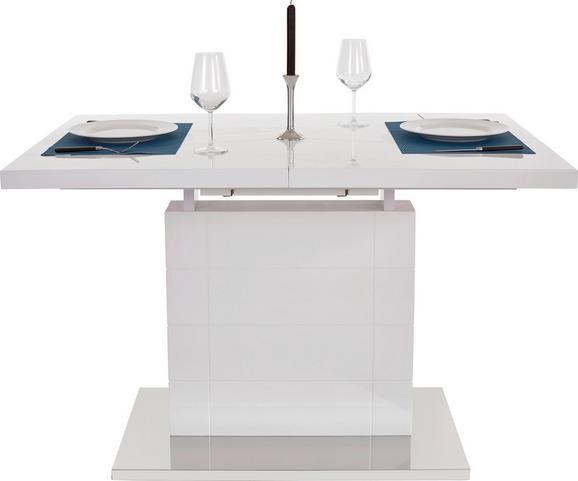 Kihúzható Asztal Raymond 120 Az - fehér/nemesacél színű, modern, fém/faanyagok (120-160/76/80cm)