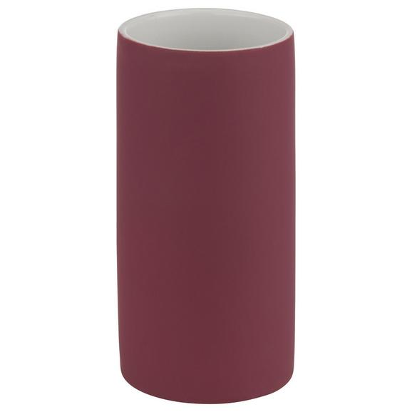 Lonček Za Umivanje Zob Melanie -ext- - bordo, Konvencionalno, keramika (6,5/12cm) - Mömax modern living