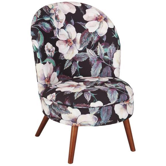 Sessel mit Blumenmotiv - Walnussfarben/Multicolor, LIFESTYLE, Holz/Textil (57/82,5/66,5cm) - Modern Living