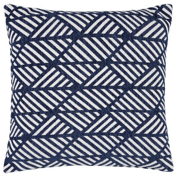 Prevleka Blazine Mary Jacquard - modra, Moderno, tekstil (45/45cm) - Mömax modern living