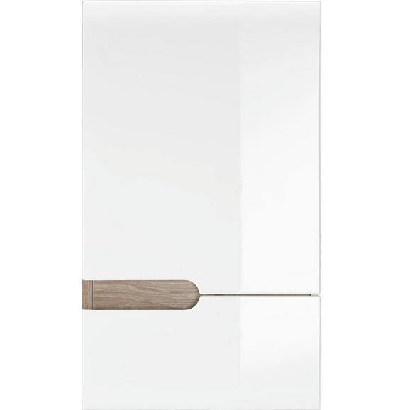 Oberschrank Weiß Hochglanz/Eichefarben - Naturfarben/Weiß, MODERN (40/69/22cm) - Mömax modern living