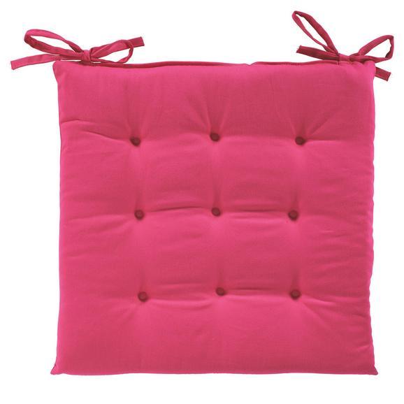 Sitzkissen Lola in Pink, ca. 40x40x2cm - Pink, Textil (40/40/2cm) - Based