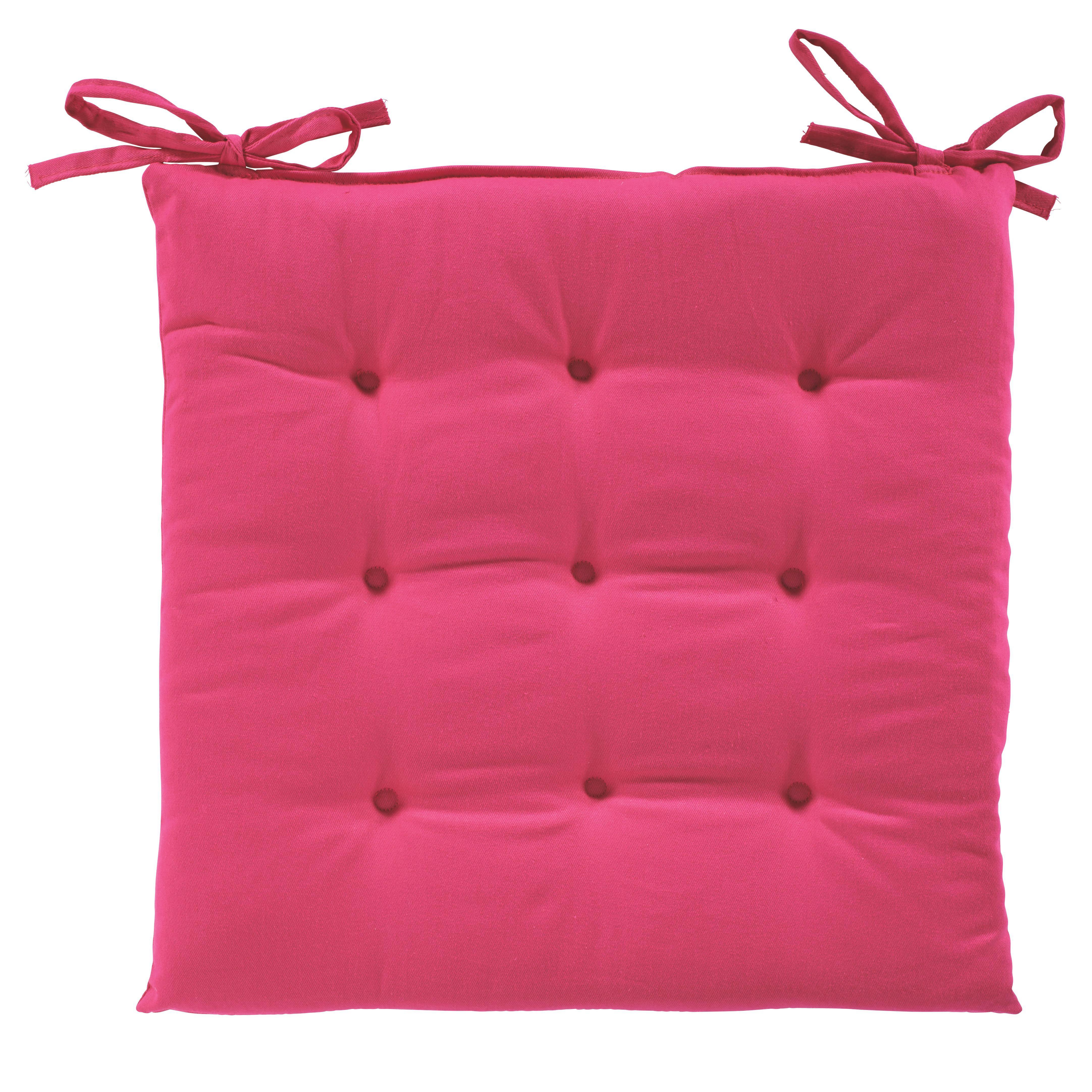 Ülőpárna Lola - pink, textil (40/40/2cm) - BASED