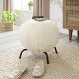 Taburet Snowflake - crem, Romantik / Landhaus, metal/textil (45/40/45cm) - Zandiara