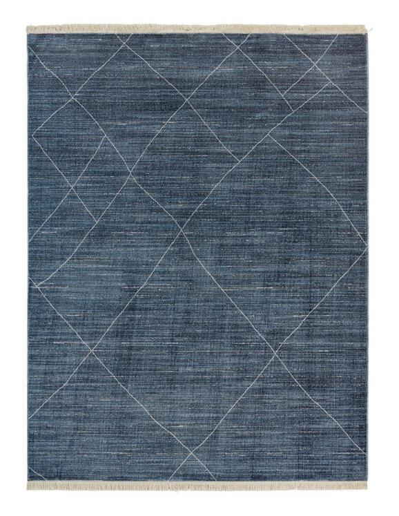 Webteppich Prestige Blau 160x220cm - Blau, Textil (160/220cm) - Mömax modern living