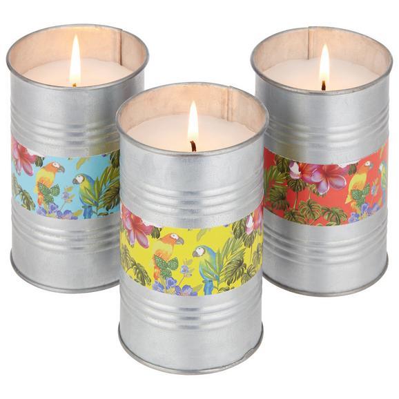 Kerze Luigi verschiedene Farben - Blau/Pink, Metall (7,5/11,2cm) - Mömax modern living